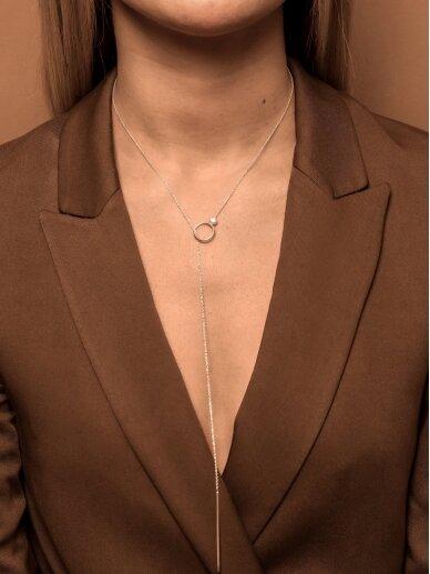 Adele Dagyte  ilgas kaklo papuošalas su perliuku