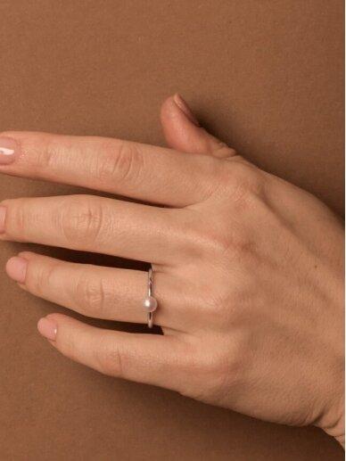 Adele Dagyte žiedas su perliuku 3