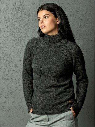 AG design megztinis aukštu kaklu DREAM  t.pilkas