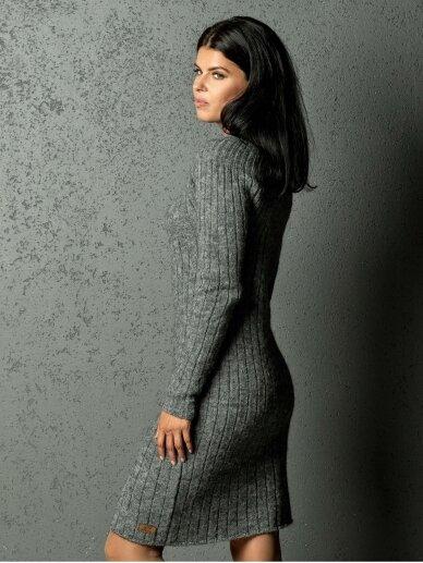 AG design alpakos vilnos megzta pilka suknelė Olivia 2