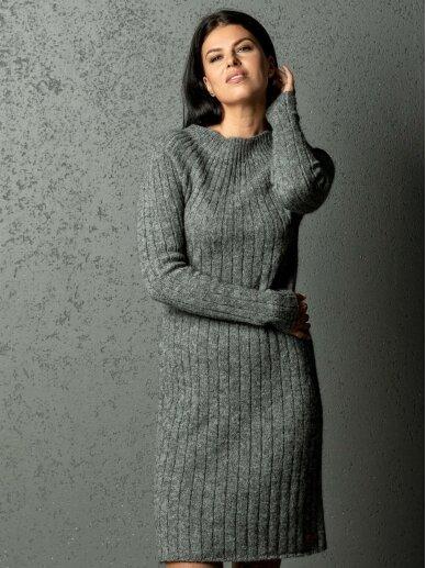 AG design alpakos vilnos megzta pilka suknelė Olivia 3