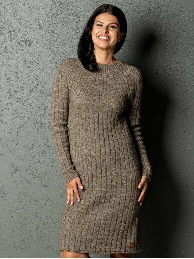 AG design alpakos vilnos megzta ruda suknelė Olivia