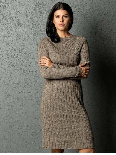 AG design alpakos vilnos megzta ruda suknelė Olivia  2