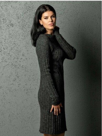 AG design alpakos vilnos megzta t. pilka suknelė Olivia  2