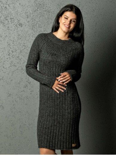 AG design alpakos vilnos megzta t. pilka suknelė Olivia  3