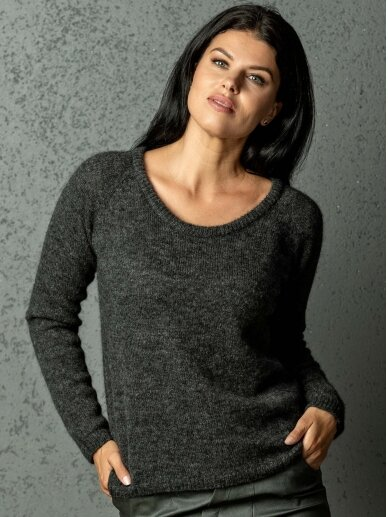 AG design Megztinis Amelia  tamsiai pilkas
