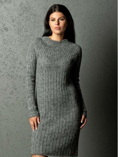 AG design alpakos vilnos megzta pilka suknelė Olivia