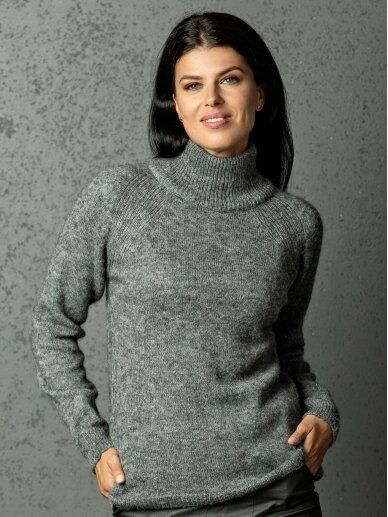 AG design megztinis aukštu kaklu DREAM  pilkas