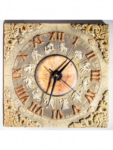 ArtTyzenHauz autorinis sieninis laikrodis ZODIAKO ŽENKLAI 2