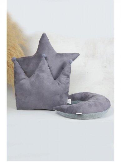 deCoro Pilkos dvipusės pagalvėlės