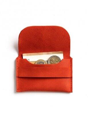 ELF BREAD raudona odinė piniginė