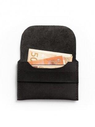 ELF BREAD juoda odinė piniginė