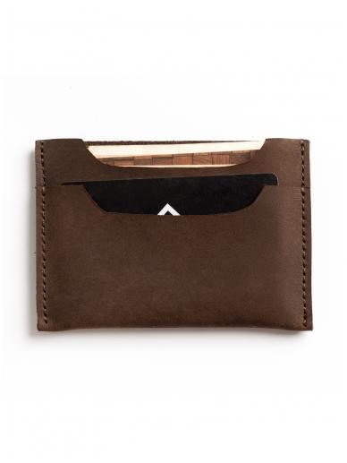ELF BREAD ruda odinė piniginė/kortelinė