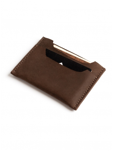 ELF BREAD ruda odinė piniginė/kortelinė 2