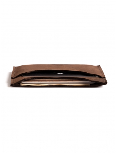 ELF BREAD ruda odinė piniginė/kortelinė 3