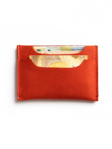 ELF BREAD raudona odinė piniginė/ kortelinė