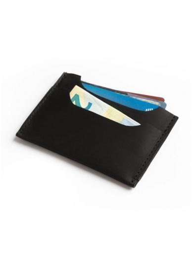 ELF BREAD juoda odinė piniginė/kortelinė 2