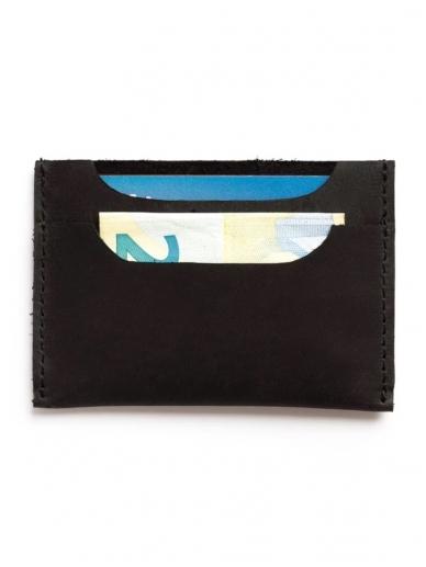 ELF BREAD juoda odinė piniginė/kortelinė