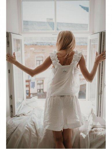 """GRAND DUCHESS Baltas lininis kostiumas """"Avantiūristė"""" 5"""
