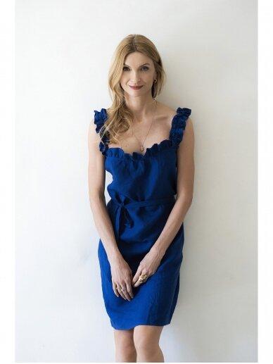 """Grand Duchess  mėlyna lininė suknelė """"Žaisminga"""""""