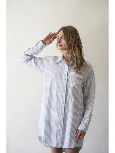 """GRAND DUCHESS Lininiai marškiniai """"Nepataisoma optimistė"""" 2"""