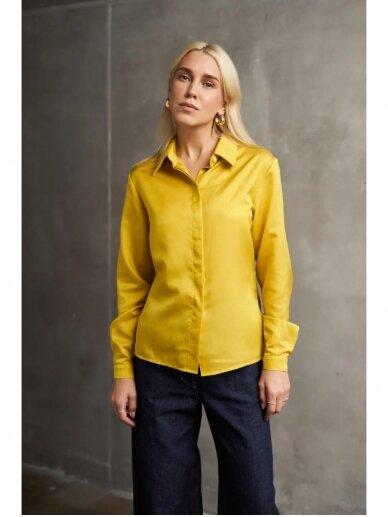 Grow Slow spindintys geltoni maškiniai su šilku