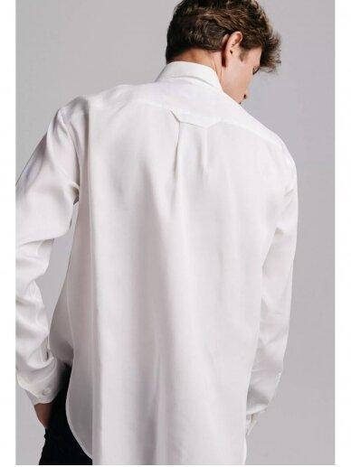 HUGINN MUNINN Uniseksiniai balti Andrumsloft marškiniai 3