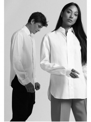 HUGINN MUNINN Uniseksiniai balti Andrumsloft marškiniai 4