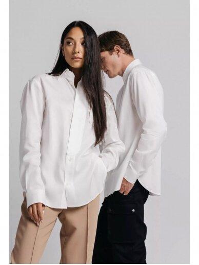 HUGINN MUNINN Uniseksiniai balti Andrumsloft marškiniai 5
