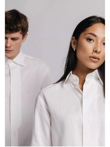 HUGINN MUNINN Uniseksiniai balti Andrumsloft marškiniai 6
