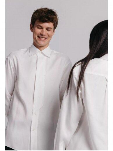 HUGINN MUNINN Uniseksiniai balti Andrumsloft marškiniai 7