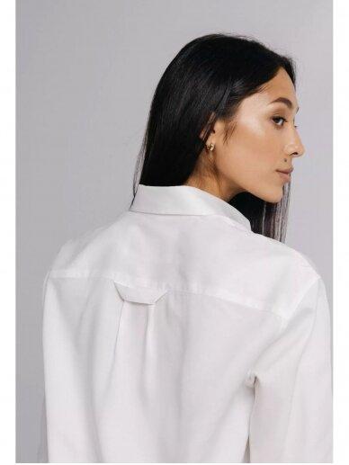 HUGINN MUNINN Uniseksiniai balti Andrumsloft marškiniai 8