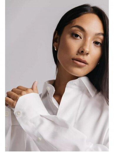 HUGINN MUNINN Uniseksiniai balti Andrumsloft marškiniai 9