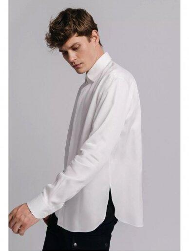HUGINN MUNINN Uniseksiniai balti Andrumsloft marškiniai 2