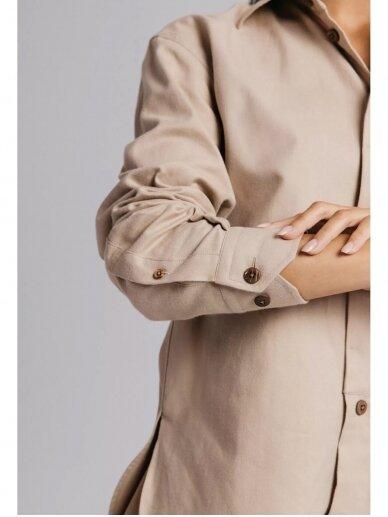 HUGINN MUNINN Uniseksiniai kreminės spalvos Andrumsloft marškiniai 5