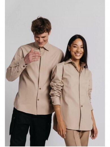 HUGINN MUNINN Uniseksiniai kreminės spalvos Andrumsloft marškiniai 2