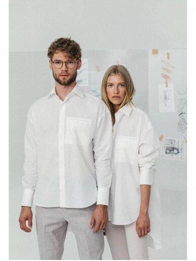 HUGINN MUNINN Uniseksiniai Hvelfing marškiniai su linu