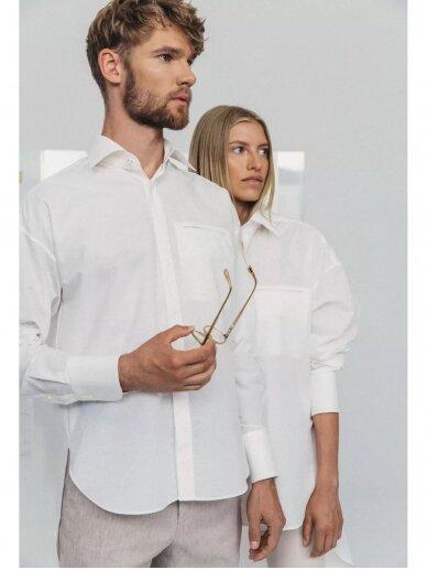 HUGINN MUNINN Uniseksiniai Hvelfing marškiniai su linu 7