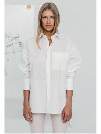 HUGINN MUNINN Uniseksiniai Hvelfing marškiniai su linu 2