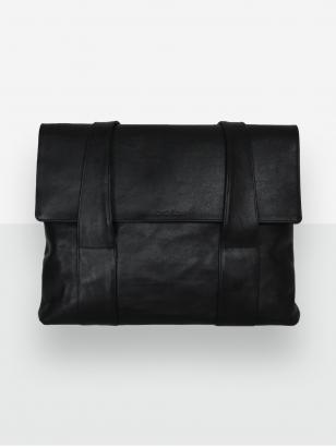 LAVA FLOW juoda odinė rankinė Teide