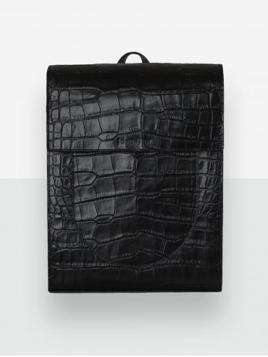 LAVA FLOW juoda odinė kuprinė Kula croco
