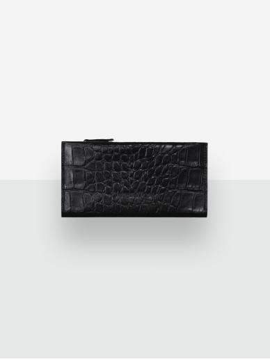 LAVA FLOW juoda odinė piniginė Taal