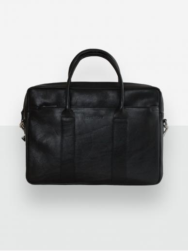 LAVA FLOW juodas odinis kompiuterio krepšys GORDON