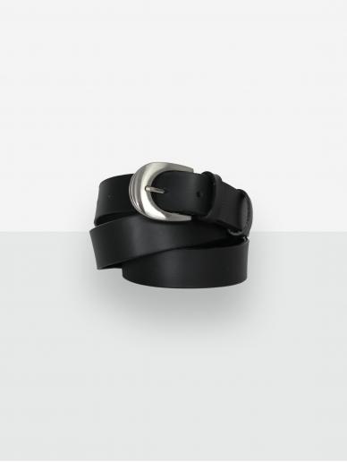 LAVA FLOW juodas odinis moteriškas diržas Fossa