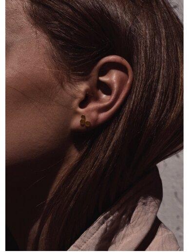 NO MORE auskarai TRIPLE SEC EARRINGS GOLD 2