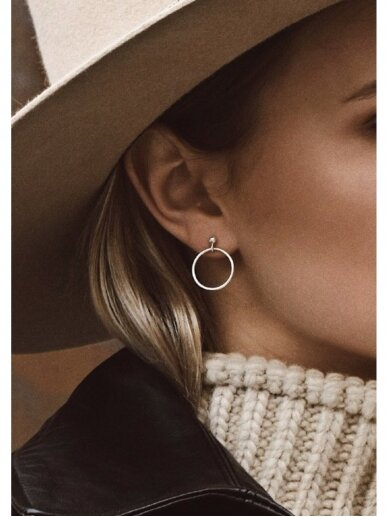 NO MORE auskarai SMALL CIRCLE EARRINGS
