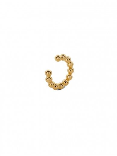 NO MORE auskaras BOLD CHAMPAGNE EAR CUFF GOLD
