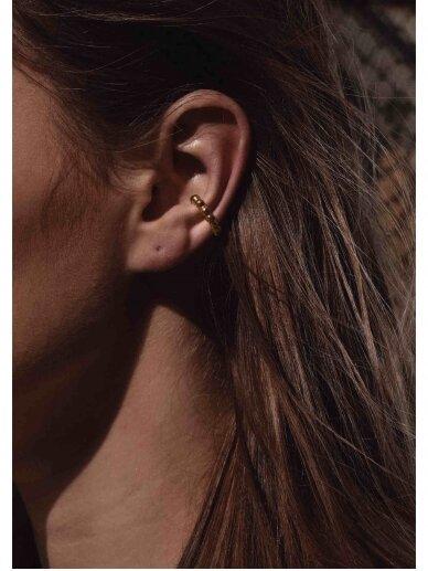 NO MORE auskaras BOLD CHAMPAGNE EAR CUFF GOLD 2