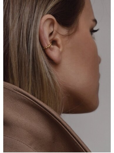 NO MORE auskaras CHAMPAGNE EAR CUFF gold