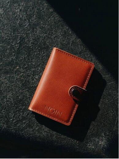 NOCOIN Classy Clip ruda piniginė